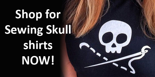 Skull sewing shirt