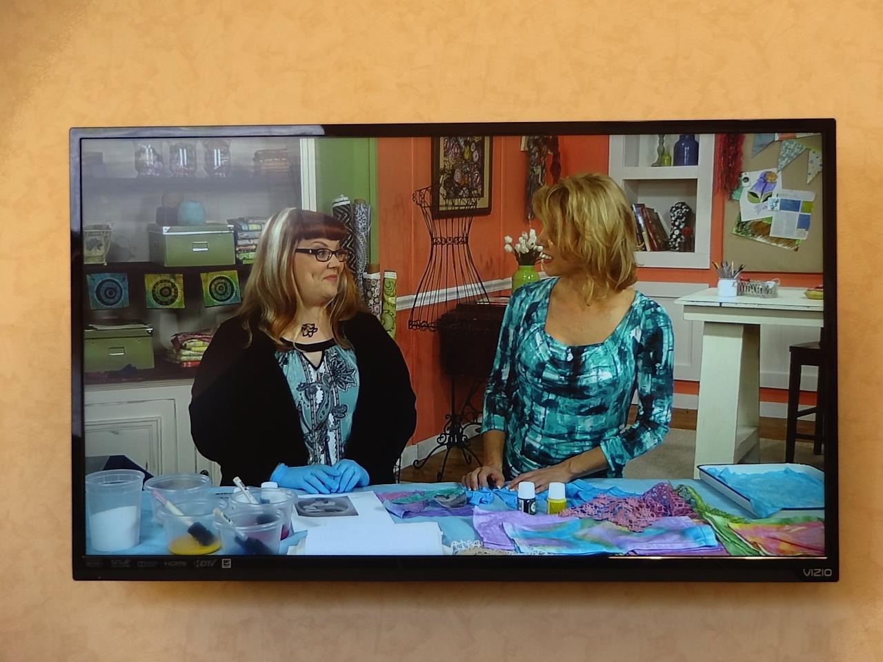 Cheryl and Pokey on set