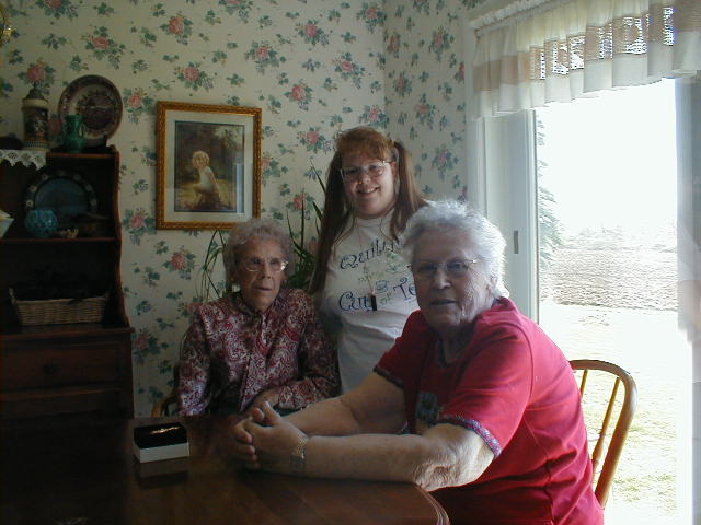 Grammie, Aunt Beck, and me